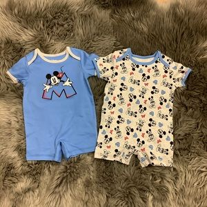 Disney | Mickey Mouse | Bodysuits | 2 Pack | Blue
